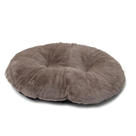 T&S Moulded Fluffy Inner Dog Bed Brown Medium (86cm)