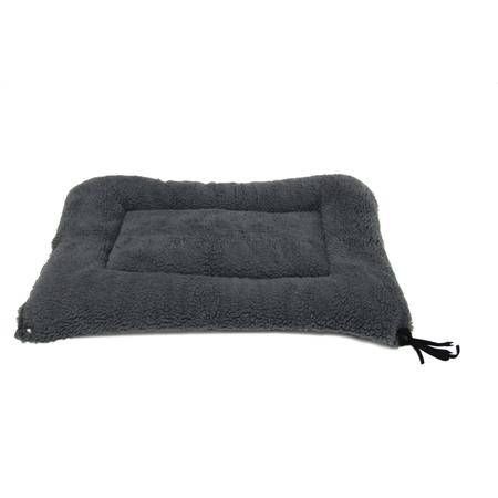 T&S Raised Bed Mat Dog Bed Grey Medium (68x53cm)