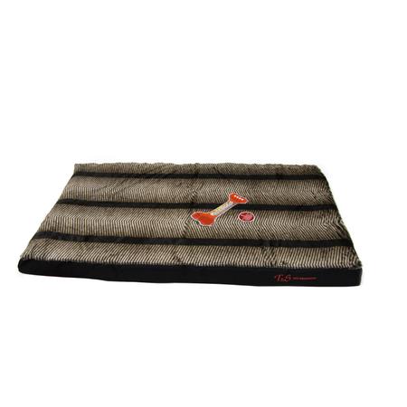 T&S Slumber Pet Mat Dog Bed Brown Size 4 (85x122cm)