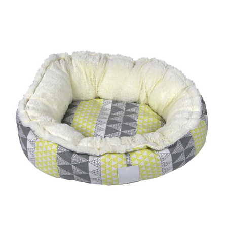 T&S Snug Bed Yellow Limelight Round Dog Bed Yellow Large (80cm)