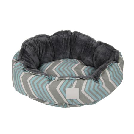 T&S - Snug Bed - Modern Chevron -Round Dog Bed