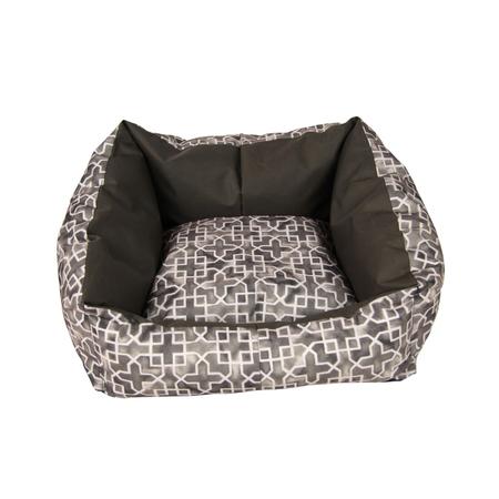T&S iSleep Star Struck Square Dog Bed Brown Medium (65x85cm)