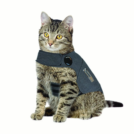 Thundershirt Anti Anxiety Shirt for Cats Grey Medium (Weight 4-6kg)