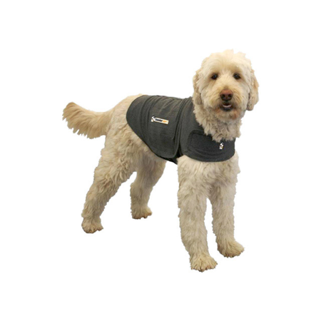 Thundershirt Anti Anxiety Shirt for Dogs Grey Medium (Weight 11.5-18.5kg)