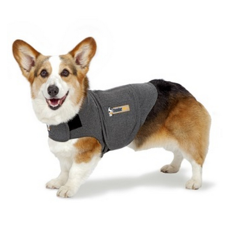 Thundershirt Anti Anxiety Shirt for Dogs Grey Small (Weight 6.5-11.5kg)