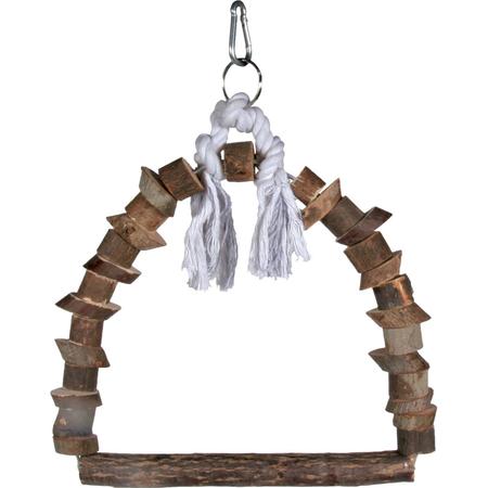 Trixie Natwood Wooden Bird Swing Woodgrain 15x20cm