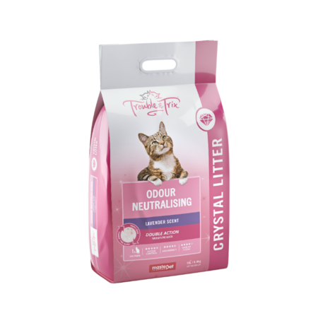 Trouble and Trix Angel Silica Crystal Cat Litter Pink 15Litre