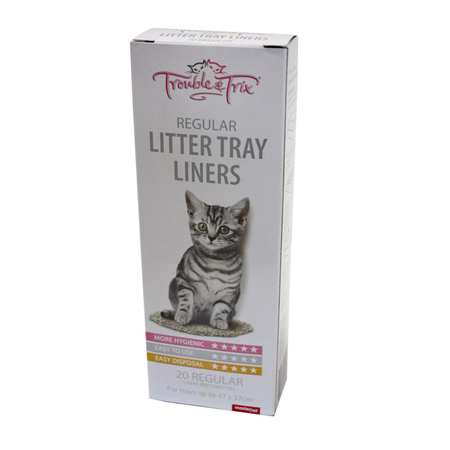 Trouble and Trix Cat Litter Tray Plastic Liners  Regular (47x37cm)