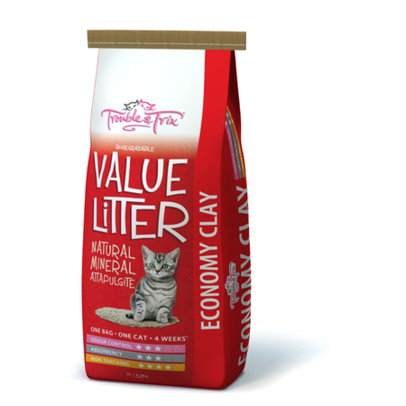 Trouble and Trix Value Clay Cat Litter Red 15Litre