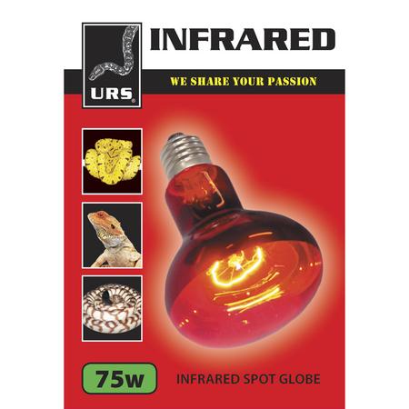 URS Infrared Spot Globe  75 Watt