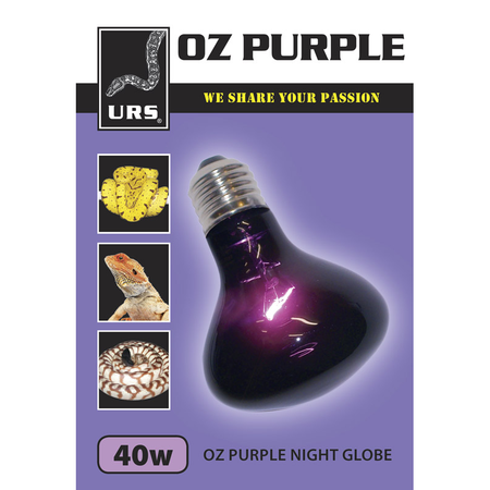 URS Oz Purple Night Globe  40 Watt