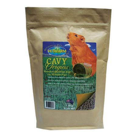 Vetafarm Cavy Origins Pellet Food for Guinea Pigs  1.5kg