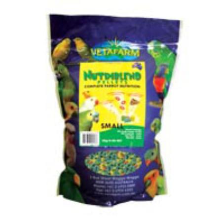 Vetafarm Nurtiblend Parrot Pellets Small 2kg