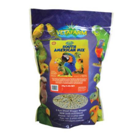 Vetafarm Parrot Pellets South American Mix  2kg