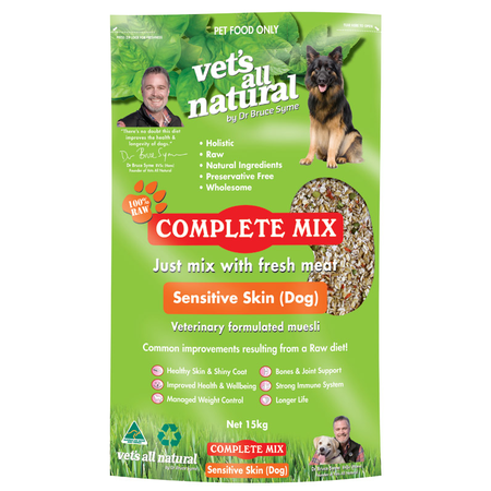 Vets All Natural Complete Mix Sensitive Skin for Dogs  15kg