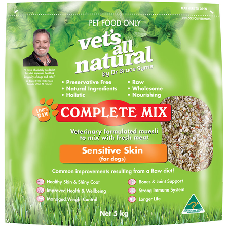 Vets All Natural Complete Mix Sensitive Skin for Dogs  5kg