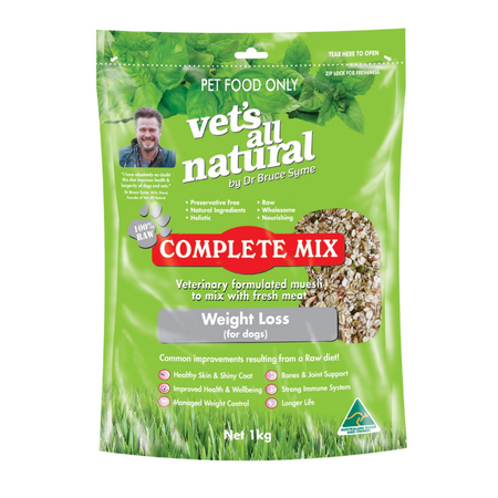 Vets All Natural Complete Mix Weight Loss for Dogs  1kg