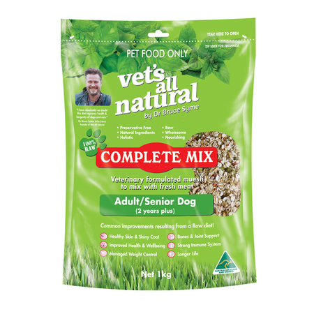 Vets All Natural Complete Mix for Adult and Senior Dogs  1kg