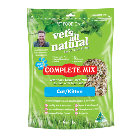 Vets All Natural Complete Mix for Cats and Kittens  1kg