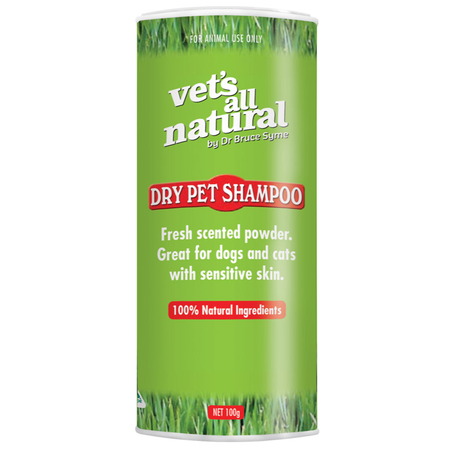 Vets All Natural Dry Pet Shampoo - 100gm