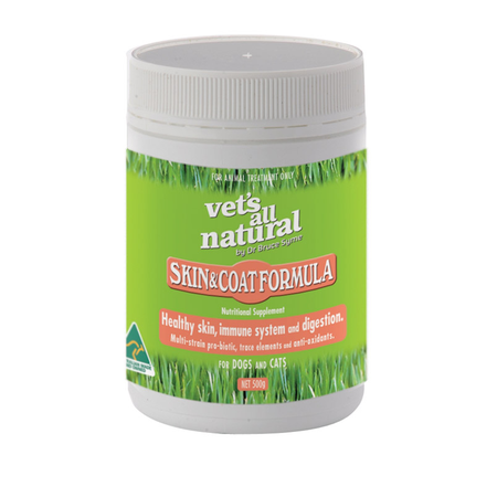 Vets All Natural Skin and Coat Support Powder  250gm