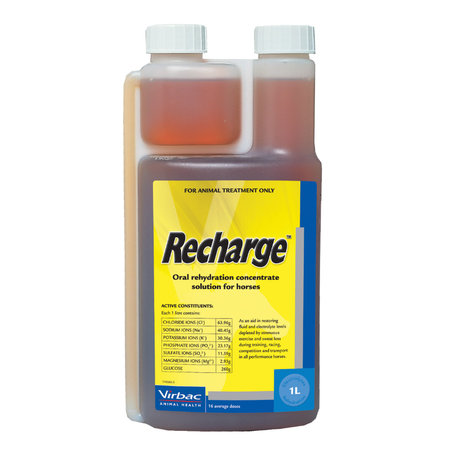 Virbac Recharge Concentrated Electrolyte Solution for Horses  1L