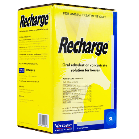 Virbac Recharge Concentrated Electrolyte Solution for Horses  5L