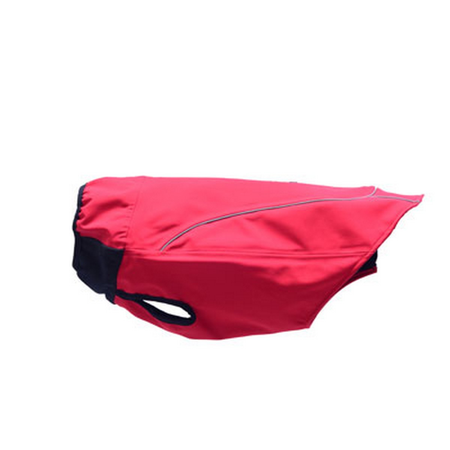 WagWear Checkerboard Soft Shell Water Proof Dog Coat Red 30cm