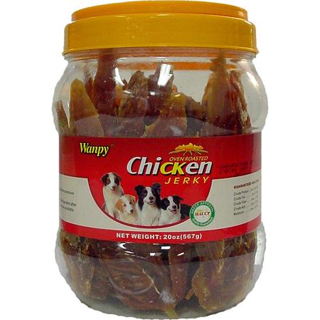 Wanpy Dry Chicken Jerky Dog Treats  576gm