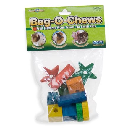 Ware Bag O Chews Large Wooden Toys for Small Animals 12pk