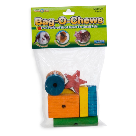 Ware Bag O Chews Large Wooden Toys for Small Animals 8pk