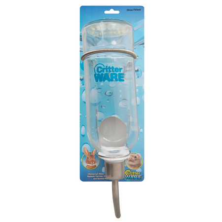 Ware Chewproof Bottle Glass Water Bottle for Small Animals Clear 26oz
