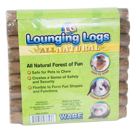 Ware Lounging Logs for Small Animals Brown Large