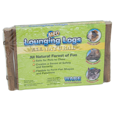 Ware Lounging Logs for Small Animals Brown Medium