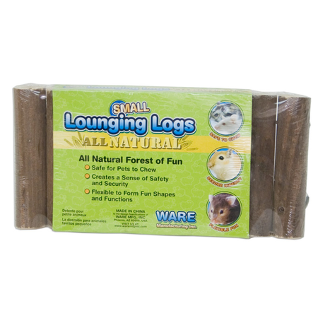 Ware Lounging Logs for Small Animals Brown Small