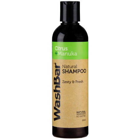 WashBar Natural Shampoo Citrus & Manuka 250ml