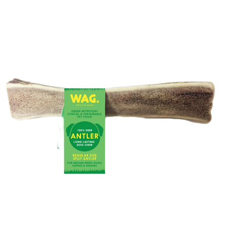 Watch and Grow Naturally Shed Split Deer Antler Long Lasting Dog Treat  Small