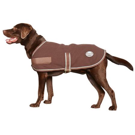Weatherbeeta Chocolate Blue Earth Fleece Dog Coat Multi 80cm