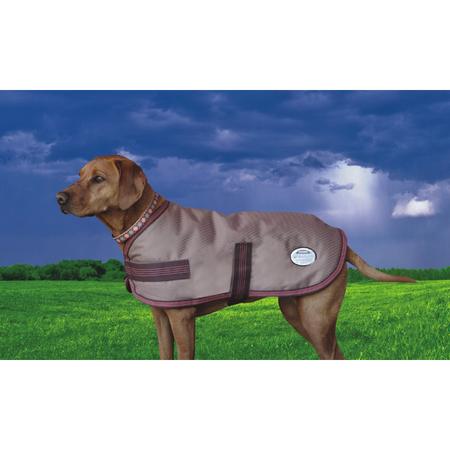 Weatherbeeta Chocolate Moleskin Dog Coat Brown 35cm