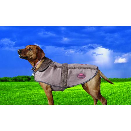 Weatherbeeta Chocolate Moleskin Dog Coat Brown 80cm