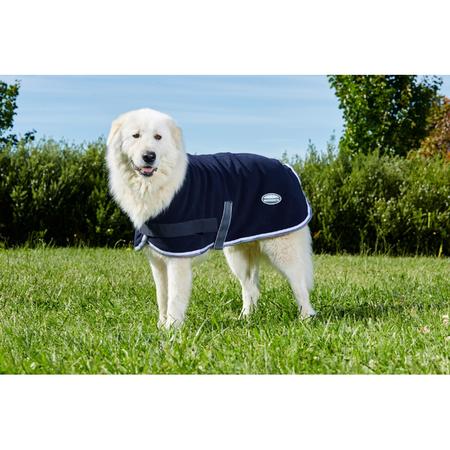 Weatherbeeta Navy, Grey and White Fleece Dog Coat Multi 70cm