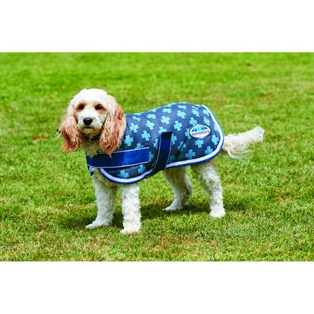 Weatherbeeta Parka Charcoal Blue Cross Dog Coat 45cm