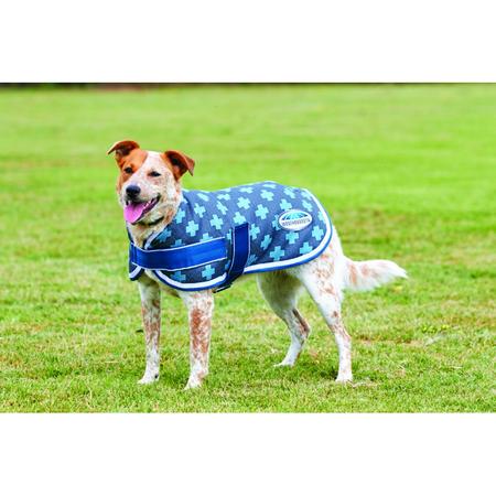 Weatherbeeta Parka Charcoal Blue Cross Dog Coat 55cm