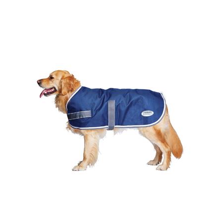 Weatherbeeta Parka Navy, Grey & White Water Proof Dog Coat Multi 35cm