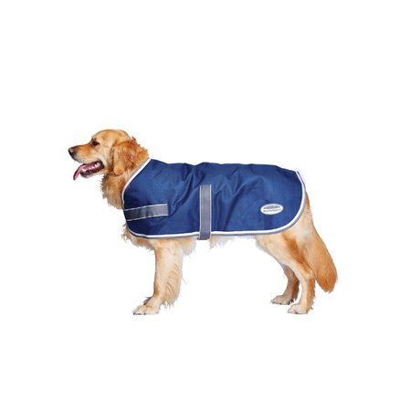Weatherbeeta Parka Navy, Grey & White Water Proof Dog Coat Multi 70cm