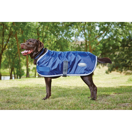 Weatherbeeta Windbreaker Navy, Grey & White Wind Proof Dog Coat Multi 30cm