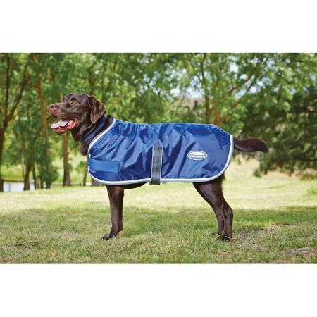 Weatherbeeta Windbreaker Navy, Grey & White Wind Proof Dog Coat Multi 35cm