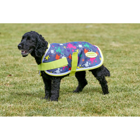 Weatherbeeta Windbreaker Paint Splat Grey Dog Coat 70cm
