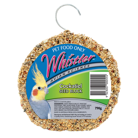 Whistler Cockatiel Seed Block - 790gm