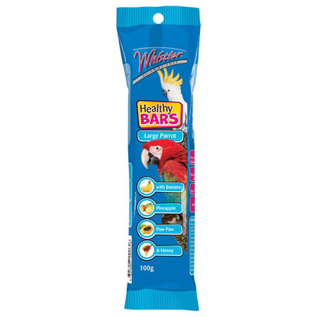 Whistler Healthy Bar Large Parrot Tropical Blend - 100gm